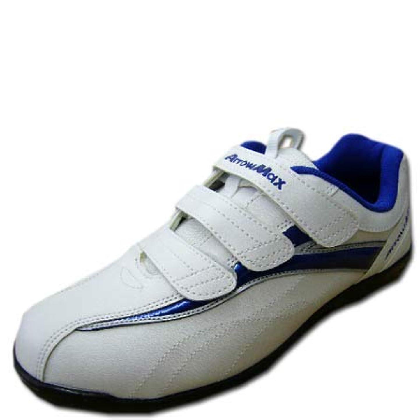 バーチャルプロトタイプ手紙を書く安全靴 スニーカー マジックテープ 軽量 アローマックス #61 セーフティーシューズ 青