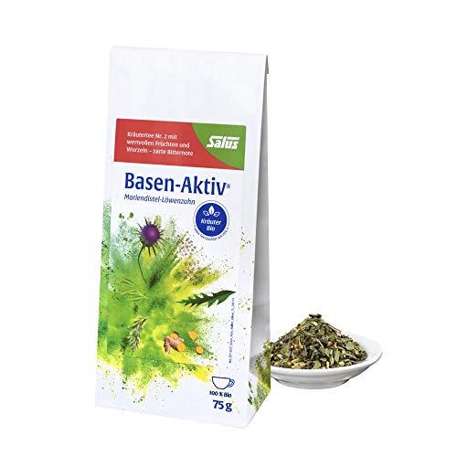 Salus Basen-Aktiv Kräutertee Nr. 2 – Loser Tee mit Mariendistel und Löwenzahn – Hochwertige Bio Qualität – 1 x 75 g