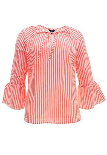 GANT Damen Bluse Baumwolle Blusenshirt Gestreift Rot 38