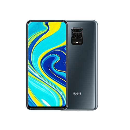 "Xiaomi Redmi Note 9S 4GB 64 GB Quad camera AI 48MP 6.67 ""FHD + 5020mAh Type 18W snabbladdande mellanstjärnig grå"