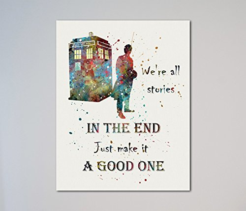 "Tardis Doctor Who Quote Dr. Who time machine 11"" x 14"" Print"