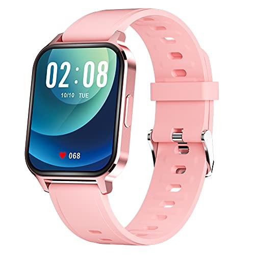 Q18 Smart Watch Fitness Tracker Pulsmesser Schrittzähler Kalorienzähler IP68 Wasserdicht Sportuhr mit 1,7 Zoll HD Bildschirm Warm Geschenk