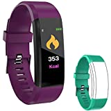 IULONEE Fitness Tracker Smart Watch, Activity Tracker IP67 Waterproof, Smart Bracelet Pedometer Watch with Heart Rate Blood Pressure Monitor Sleep Calorie Step Counter for Women Men and Kids (Purple)