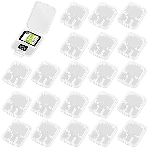 Transparent SD Karten Etui 30Pc Speicherkarte Schutzbox SD Karten Tasche Hülle Kunsstoff SD Karten Aufbewachrungsbox Speicherkarten Schutzhülle für SD MMC MicroSD CF