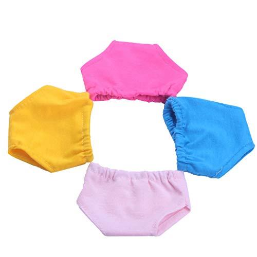 Zoylink 4 Paar 18'' Puppe Unterwäsche süß Verschiedene Farben Baumwolle Puppe Höschen