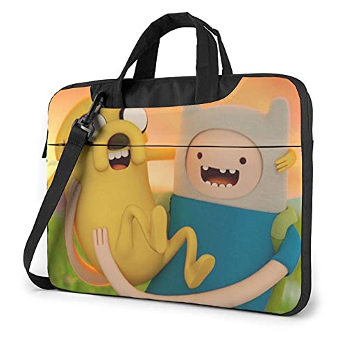 XCNGG Adventure Time Laptop Bag Tablet Portable Briefcase Protective Case Cover Messenger Bags 13 inch