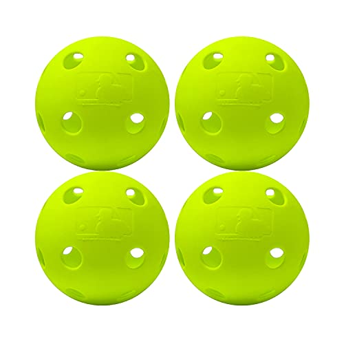 Franklin Sports MLB Indestruct-A-Ball Softballs (4 Pack), 30,5 cm, optisches Gelb