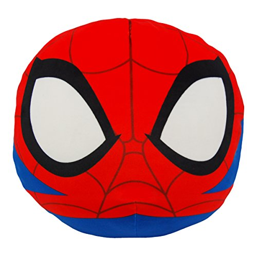 """Marvel Spider-Man, """"Spider-Man"""" 3D Ultra Stretch Cloud Pillow, 11"""" Round, Multi Color"""