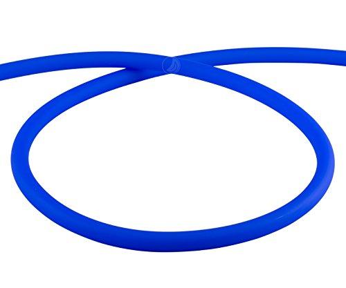 AMY Deluxe Shisha Silikonschlauch matt - blau | 150 cm