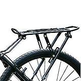 MIAOYO Frenos Disco Aleación De Aluminio Estante Trasero De La Bicicleta,MTB Bicicletas Plegables Bastidor Trasero Bicicleta Portaequipajes Bicicleta Portabicicletas Al Aire Libre,Negro