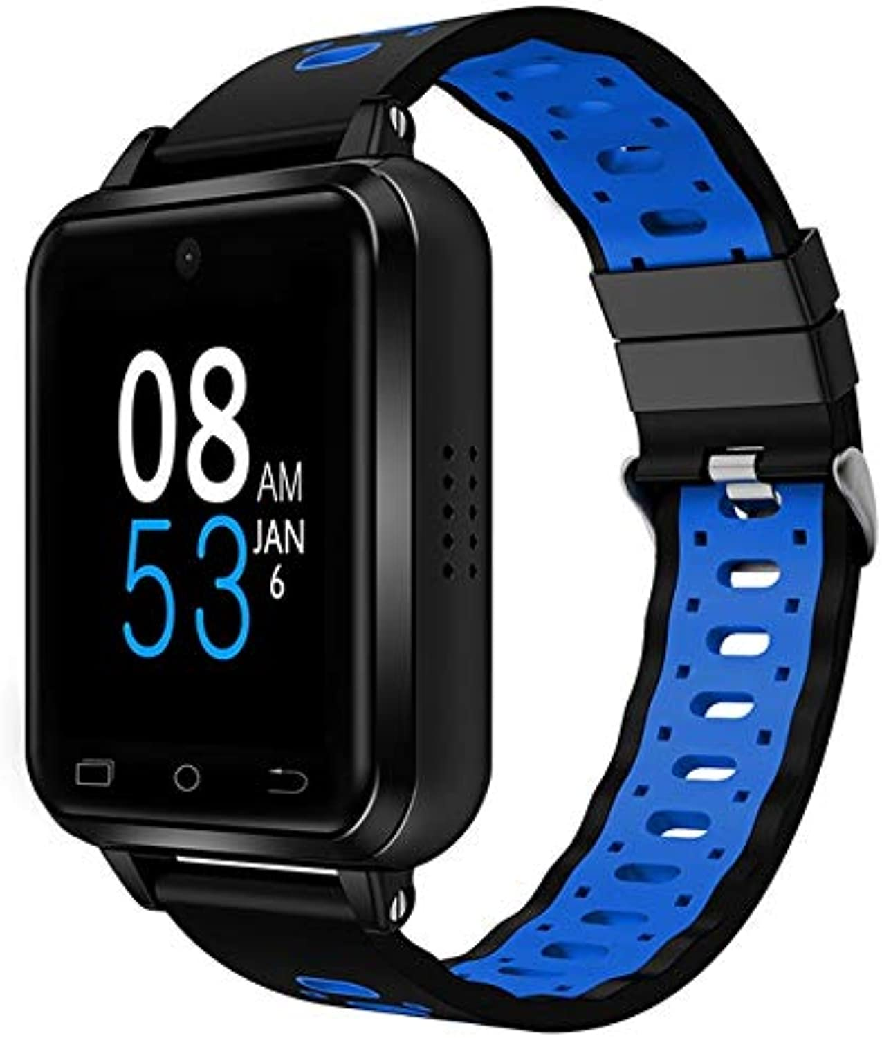 Q1 Pro 4G Smart Watch MTK6737 Android 6.0 1GB+8GB IP67 Waterproof, Supports Pedometer & Heart Rate Monitoring & GPS & Video Calls High Quality (color   blueee)
