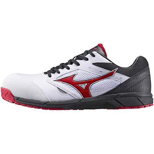 [ミズノ] 安全靴 オールマイティ LS 軽量 紐 JSAA・普通作業用(A種) ホワイト×レッド×ブラック 30 cm 3E
