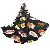 N\A Kqwaii colorato Piccolo Grasso Sushi Mantello per Ragazze con Mantello Mantello mantelli per Bambini 59 Pollici per i Costumi di Natale di Halloween Cosplay