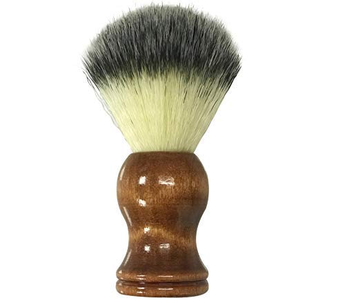 The Henna Guys Shaving Brush - Brown Wooden Handle - Made for the Best Shave. For Safety Razor, Double Edge Razor, Straight Razor, Hand Crafted Shaving Brush for Men with Sensitive Skin