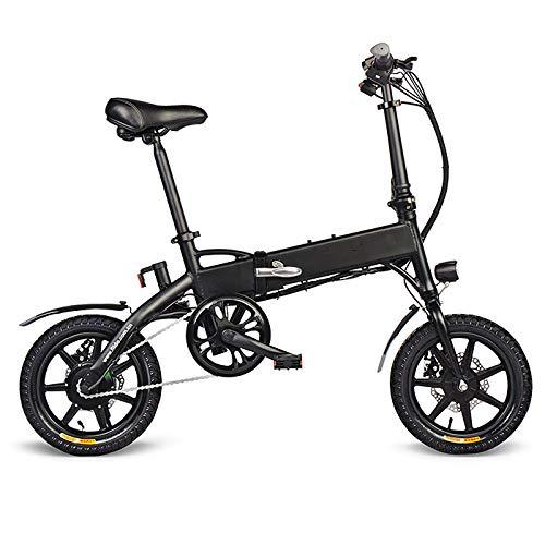 SHIJING Plegable Electric Bike Dos Ruedas Bicicleta eléctrica de 14 Pulgadas 36V 250W Mini Adultos Scooter eléctrico con Asiento