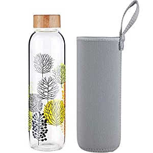 JUICE (J) Botella de vidrio transparente de 1.0L para la nevera ...