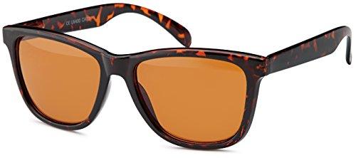 Vintage Sonnenbrille im chicen und zeitlosen wayfarer - Style und retro Leopardenoptik, leichte Cateye-Form, Brillentrends 2014