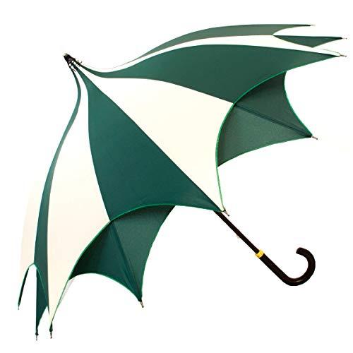 Amazoni paraplu, ster, groen en beige