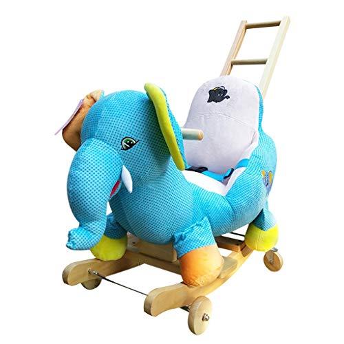 Silla mecedora de madera para ninos mecedora para ninos pequenos para ninos (color : Azul)