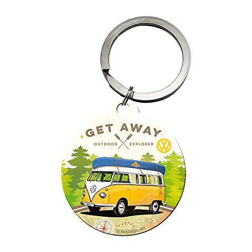 Nostalgic-Art 48027 - Volkswagen - VW - Let's Get Away  , Schlüsselanhänger , Metall-Schlüsselanhänger , Rund , 4 cm