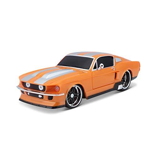 Maisto Tech R/C Ford Mustang Gt: Ferngesteuertes Auto im Maßstab 1:24, mit Pistolengriff-Steuerung, Hinterradantrieb, ab 8 Jahren, 20 cm, orange (581061-1)