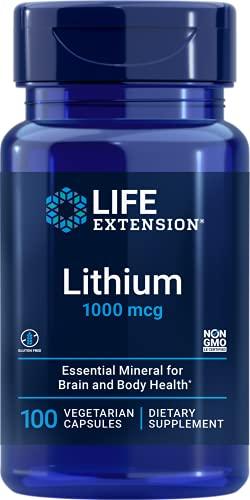 Life Extension Lithium 1,000 Mcg 100 Vegetarian...