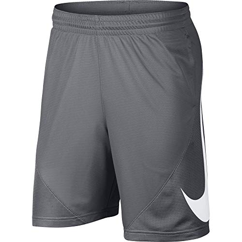 NIKE Men's HBR Basketball Shorts, Cool Grey/Cool Grey/White, Medium