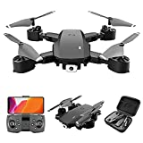 GAOFQ Drone Optical Flow Positioning RC Quadcopter con cámara 4K HD, Modo sin Cabeza de retención de altitud, FPV Plegable Drones WiFi Live Video 3D Flips 6Axis RTF Easy Fly Steady for Learning