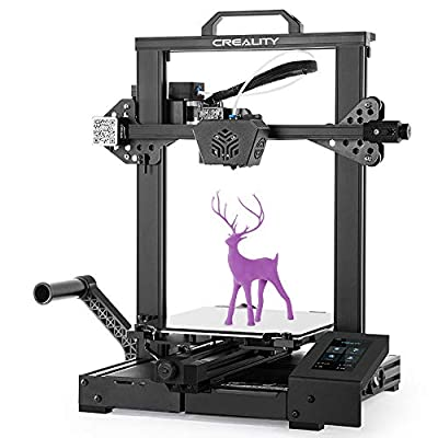 Creality Official CR-6 SE New Version 3D Printer Leveling- Free with Silent Motherboard Touch Screen and Double Z-Axis Meanwell Power Supply Print Size 235 x 235 x 250 mm