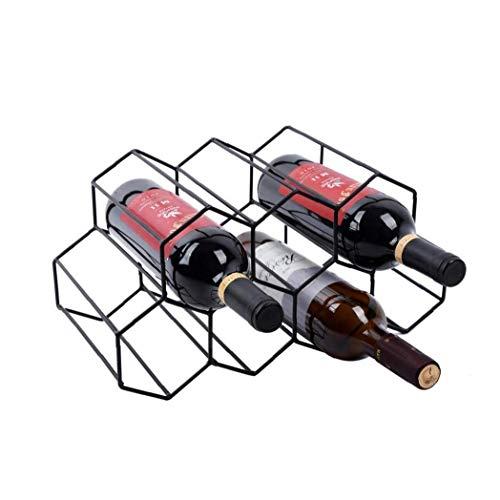 TOPofly Estante del Vino Vino de Almacenamiento de Soporte 7 Botella del sostenedor del Vino del Estante del Soporte del Soporte para Ahorrar Espacio Protector de la encimera Libre Estante del Vino