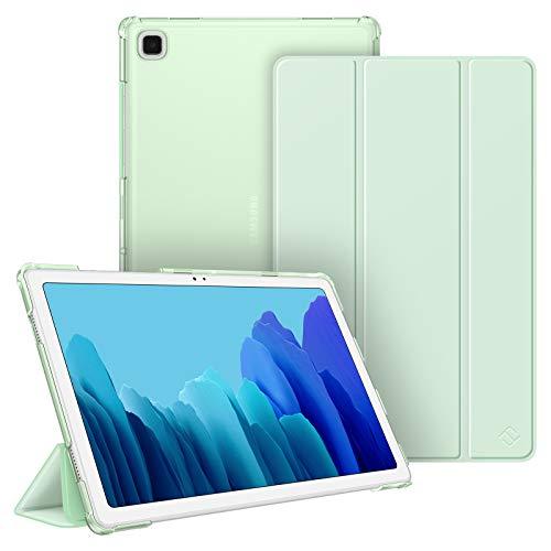 Fintie Funda Compatible con Samsung Galaxy Tab A7 10.4'' 2020 - Trasera Transparente Mate Carcasa Ligera con Función de Auto-Reposo/Activación para Modelo de SM-T500/T505/T507, Verde Claro