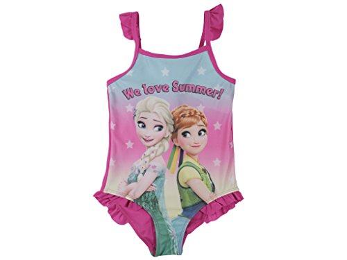 Die Eiskönigin Frozen Badeanzug Anna und ELSA (128/134, pink)