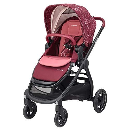 Maxi-Cosi Adorra komfortabler Kombi Kinderwagen für Ihr Kind (ab Geburt bis ca. 3,5 Jahre), Marble Plum, violett