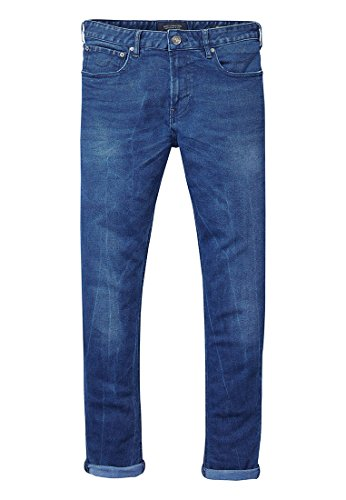 Scotch & Soda Skim Jean Droit, Bleu (Blue Drag Light 1414), W36/L34 Homme