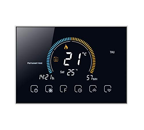 T-Storm Termostato Smart Wi-Fi per riscaldamento - contatto pulito - con display LCD a colori adatto a scatola 503 - compatibile con Alexa e Google Home e IFTTT - aggiornamento firmaware marzo 2021