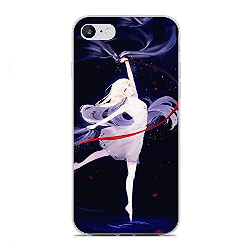 GJGSWY Case for Apple iPhone 6/6s, Monogatari-Hitagi 5 Soft TPU Clear Silikon Coque Slim Liquid Anti-Slip