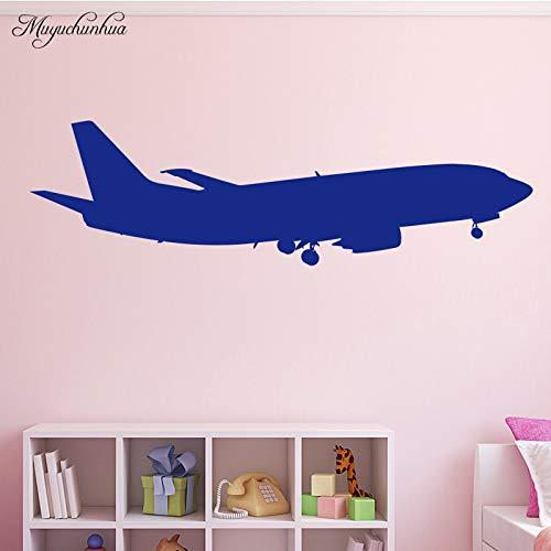 Adhesivo decorativo para pared con diseño de avión de combate, para habitación de niños, sala de estar, vinilo, decoración de pared, decoración del hogar, 30 cm x 104 cm
