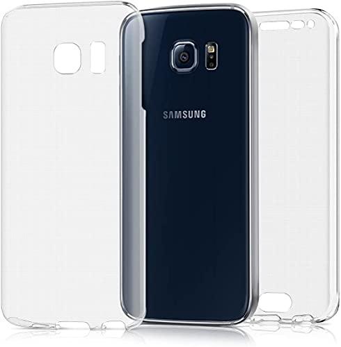 Le petit Français® Coque pour Samsung Galaxy S6 Edge avec protège écran Transparente Protection Antichoc Avant arrière intégrale GALAXI S6 Transparent Dimensions:142.1 x 70.1 x 7 mm