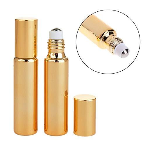 Parfum Atomisers Hervulbare Essentiële Olie Roller Flessen Voor Reizen En Thuis Etherische Olie Flessen Rollerball Flessen Geur Glazen Flessen gold