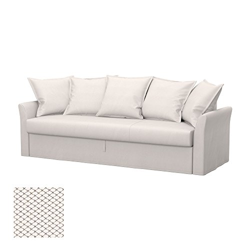 Soferia - Ikea HOLMSUND Fodera per Divano Letto a 3 posti, Nordic White