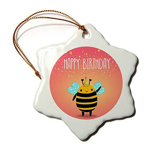 Wendana Fijne Verjaardagskaart Achtergrond Met Een Bijen Kerst Ornamenten Keramische Dubbele Zijde voor Kerstboom Decoraties Eerste