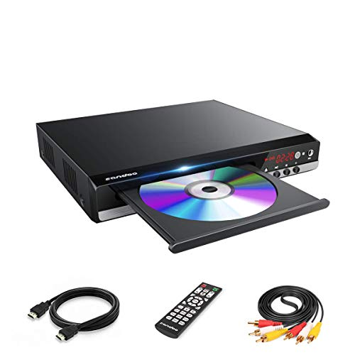 Sandoo DVD Player, Home DVD Player for TV, Region Free DVD Player for Roku TV, HD 1080P with HDMI Cable, with USB/MIC Port, Model MP2206