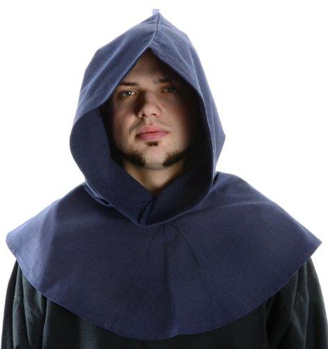 HEMAD Mittelalter Kapuze blau Baumwolle Mittelalterliche Kleidung