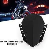 Gu3Je Deflectores de Viento de Motocicleta For Yamaha MT07 MT 07 2018 2019 MT07 FZ07 FZ07 FZ 07 2018 2019 Accesorios de la Motocicleta Parabrisas Parabrisas Deflector Protección contra el Viento Moto