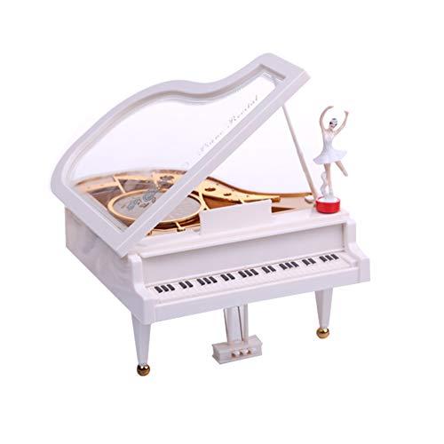 Ruiting Spieldose/Spieluhr Mädchen Klavier Musik Box Mechanismus Musik Spieluhr Klassik Geschenk Geburtstag für Mädchen Klavier Spieluhr Weiß 1 Stück.