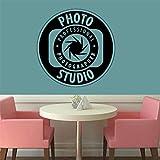 Galería de fotos, calcomanía de pared, fotografía, vinilo, pegatina de pared, cámara, póster Art Deco, tienda, ventana, papel tapiz móvil, 56x56cm