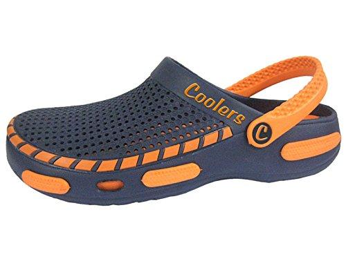 Coolers Herren Strand Clog Sandalen Orange EU 44