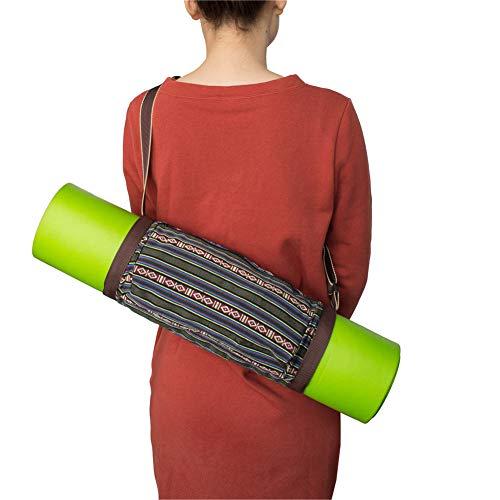 Rysmliuhan Shop Bolsa Yoga Esterilla Funda Esterilla Yoga Bolsas de Transporte de Esterilla de Yoga Yoga Cubierta de la Bolsa Bolsas y portabebés para Yoga Brown,-