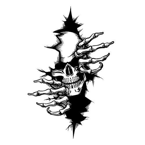 Crâne Tête De Mort Skull Horreur Stickers Décalque Autocollant Sticker Pour Voiture Véhicule Automobile Autocollant 12x18CM