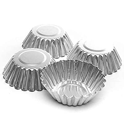 HJKL10pcs Aluminum thickened lace egg tower mold baking cups,allows you to easily make delicious egg tarts, suitable for all ages, just need to pour the egg liquid into the mold to quickly shape